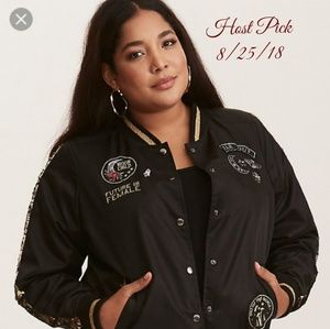 acabb894f0232 torrid Jackets   Coats - 🌹HP🌹NWT Torrid Black Patch Bomber Jacket